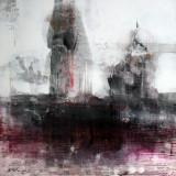 Singur spre invizibila atingere superb peisaj abstract Ovidiu KLOSKA - Pictor roman, An: 2015, Peisaje, Acrilic