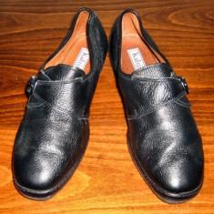 Pantof dama Made in Italia din piele Katrin Italia marimea 39 - Super Pret, Culoare: Negru, Piele naturala, Cu talpa joasa