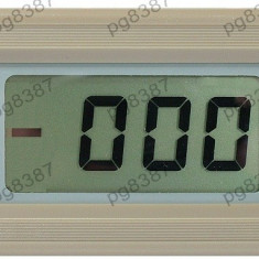 Ampermetru digital, LCD, 4 digiti, 0...1A - 111392