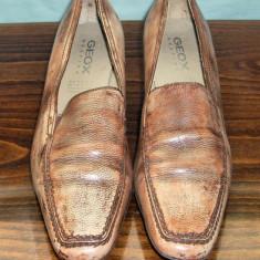 Pantof dama din piele Geox Respira marimea 40 - Super Pret, Culoare: Din imagine, Piele naturala, Cu talpa joasa