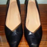 Pantof dama piele Made in UK marimea 41 - Reducere, Culoare: Negru, Piele naturala