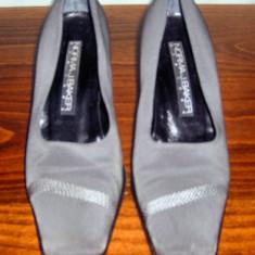 Pantof dama Made in Italia Norma J. Baker piele si catifea marimea 37, 5 - Super Pret, Culoare: Din imagine, Piele naturala, Cu talpa joasa
