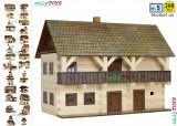 Set constructie casuta casute traditionale din lemn Magistratura  Tribunal