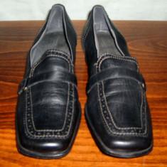 Pantof dama Made in Italia din piele Zanon & Zago marimea 41 - Reducere, Culoare: Negru, Piele naturala