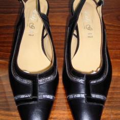 Pantof dama Made in Italia elegant din piele Lady G. Italia marimea 38, Culoare: Negru, Piele naturala