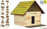 Set constructie casuta din lemn Fanar Patul Fan eco walachia casute traditionale
