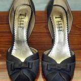 Pantof dama Made in Italia elegant catifea Titti Moda Italia marimea 38 - Reducere, Culoare: Negru, Textil