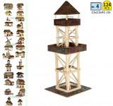 Set constructie casuta casute traditionala din lemn Turn Observatie walchia lego
