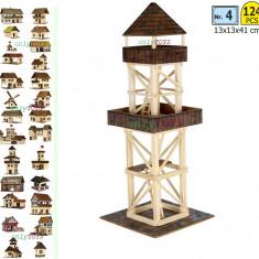 Set constructie casuta casute traditionala din lemn Turn Observatie walchia lego - Set de constructie Walachia, 8-10 ani, Unisex
