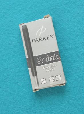 Patroane cerneală / Rezerve Parker negre 5buc/set foto