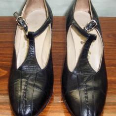 Pantof dama Made in Italia frumos piele Studio Manon Italia marimea 37, Culoare: Negru, Piele naturala, Cu toc