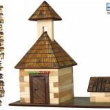 Set casuta din lemn Clopotnita si fantana eco walachia bell tower lego wood