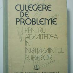 CULEGERE DE PROBLEME PENTRU ADMITEREA IN INVATAMANTUL SUPERIOR - STANASILA 1350