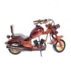 Macheta motocicleta din lemn clasica