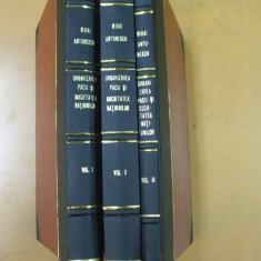 Mihai Antonescu Organizarea pacii si societatea natiunilor 3 volume Bucuresti 1929 - 1932 - Carte Drept international