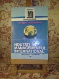 """Ovidiu Nicolescu - Noutati in managementul international """"A372"""""""