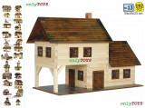 Set constructie casa casute traditionale din lemn TAVERNA eco walachia tavern