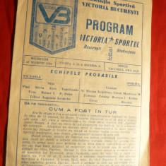 Program Fotbal -Meciul Victoria- Sportul Studentesc 16 martie 1987, 8 pag. - Program meci