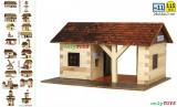 Set casute din lemn Gara mica - Statie tren eco walachia railway station lego