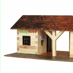 Set casute din lemn Gara mica - Statie tren eco walachia railway station lego, 8-10 ani, Unisex