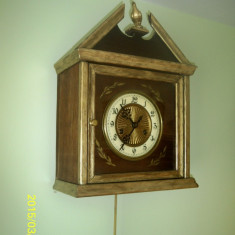 Ceas pendula perete Gustav Becker anii 1900 perfect functional