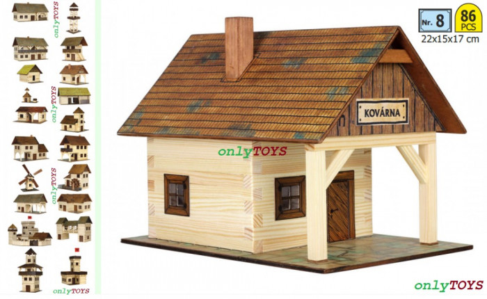 Set constructie casuta din lemn Fierarie Casa Fierarului eco walachia Kovarna