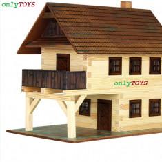 Set eco walachia guildhall casa casuta casute traditionale din lemn - PRIMARIA - Set de constructie Walachia, 8-10 ani, Unisex