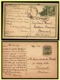 1914-1922, Lot 2 carti postale adresate profesorului Constantin Moisil, directorul Cabinetului Numismatic al Academiei, tema numismatica