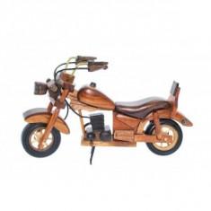Macheta motocicleta retro din lemn