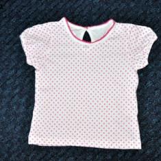 Tricou alb cu buline, marca Matalan, fetite 12-18 luni, Fete