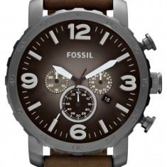 FOSSIL JR1424 Nate Chronograph ! ! ! Produs nou ! ORIGINAL ! - Ceas barbatesc Fossil, Casual, Quartz, Inox, Piele, Cronograf