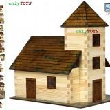 Set constructie casuta casute din lemn Biserca eco walachia church lego wood log