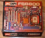 Placa de baza PCCHIPS M952 Socket 478  DDR400 AGP -poza reala, Pentru INTEL, DDR