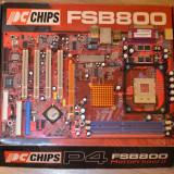 Placa de baza PCCHIPS M952 Socket 478 DDR400 AGP -poza reala, Pentru INTEL, ATX