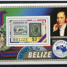 Belize, 1984, cangur, expozitia filatelica Ausipex, colita