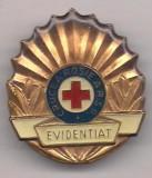 insigna-Crucea Rosie- EVIDENTIAT