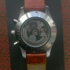 Ceas IWC -curea din piele maro - Ceas barbatesc Iwc, Casual, Argint, Analog