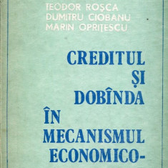 LICHIDARE-Creditul si dobanda in mecanismul economico-financiar - Autor : Teodor Rosca, Dumitru Ciobanu, Marin Opritescu - 111222