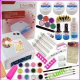 Kit unghii false cu gel UV peste 100 produse profesionale unghii cu gel UV+CADOU, Sina