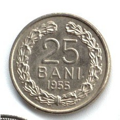 25 BANI 1955 STARE AUNC UNC - Moneda Romania
