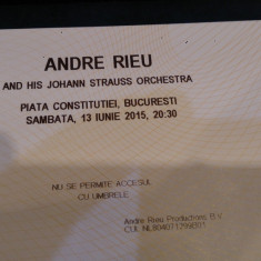 Bilet concert Andre Rieu-Bucuresti 13 iunie 2015, Piata Constitutiei