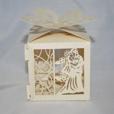 Marturie nunta, Cutiuta perforata design miri CEL MAI MIC PRET DE PE PIATA - Marturii nunta