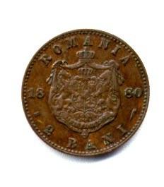 ROMANIA 2 BANI 1880 STARE XF foto