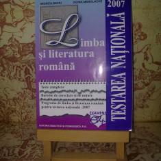 "Miorita Baciu - Limba si literatura romana Testare Nationala 2007 ""A470"""
