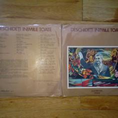 Deschideti inimile toate ( Compilatie muzica patriotica/comunista, epoca Ceausescu 2 LP, 2 discuri) vinil vinyl - Muzica soundtrack