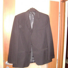 Costum barbati, Marime: 54, Culoare: Negru, 3 nasturi, Marime sacou: 52, 48 sau mai mare