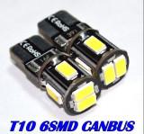 Bec LED T10 W5W CAN-BUS 6x 5630 SMD Alb Pur fara eroare bec ars A049, Universal, EuropeAsia