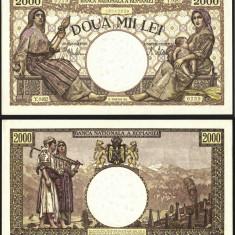 ROMANIA 2000 LEI 1941 UNC - Bancnota romaneasca