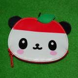 portofel  panda - mar (PandaApple), cu fermoar, imitatie de piele, 11x9 cm;