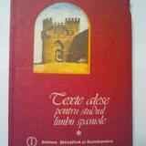 TEXTE ALESE PENTRU STUDIUL LIMBII SPANIOLE- SILVIA VASCAN ( 1493 )